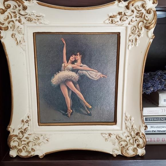 Vintage Framed Frank d'Amario Ballet Dancers Print